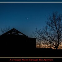 Feb 2016: Crescent Moon© Ron Peet