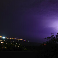 Feb 2009: Lightning over Paphos © MSAS